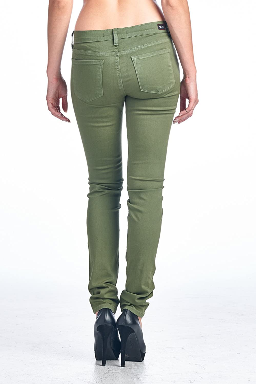 Angry Rabbit Womens Colored Skinny Designers Premium Demin Jeans Made in USA