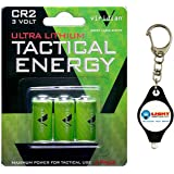 Viridian CR2 3v 3 Lithium Batteries with Free Keychain Light from Lightjunction (Multipacks Available!) (1 Pack)