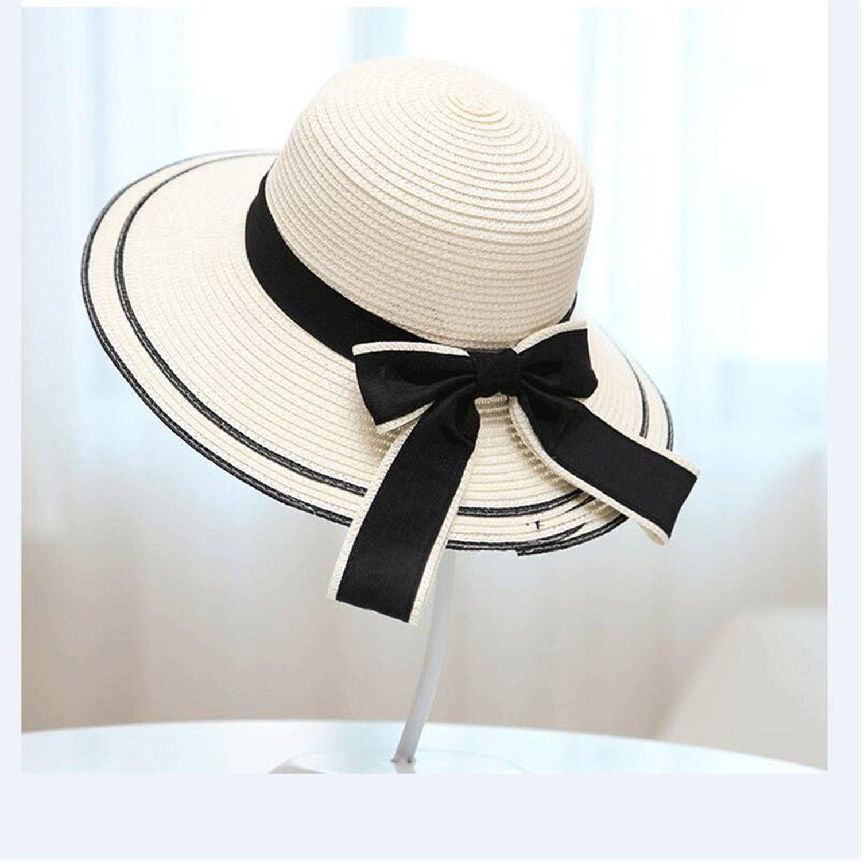 spyman Sun Hat New Summer New Fashion Wheat Panama Sun Hat Beach Hat Ribbon Bow Knot Naval Style Straw Hat Woman Cap