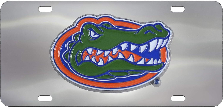 Chrome FANMATS NCAA Florida Gators Die Cast License Plate 6 x 12