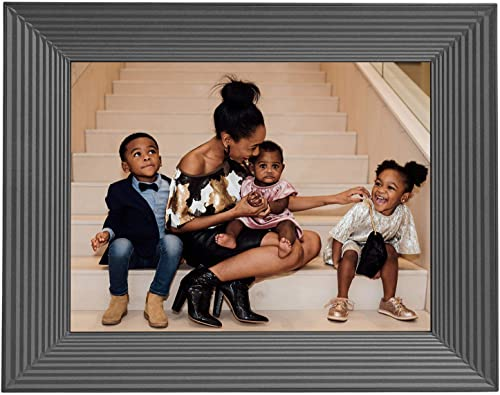 Aura Mason Smart Digital Picture Frame 9 Inch Free Unlimited Storage HD WiFi Frame The Best Way to Share Photos Feel Together from Away