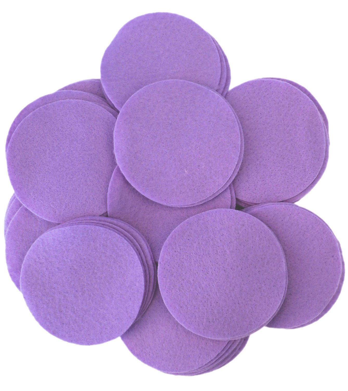 4 Inch - 19pc Playfully Ever After Charcoal Gray Craft Felt Circles