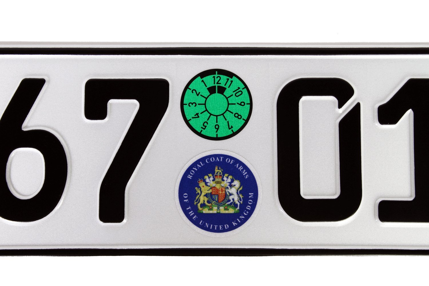 Amazon.com: Great Britain Euro Plate with Registration Seals - Flag ...