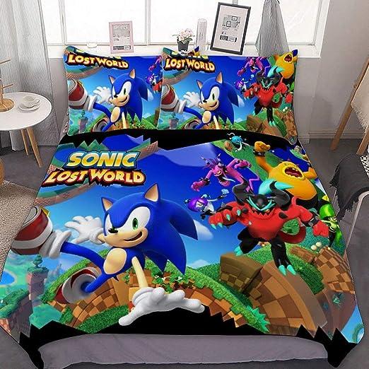 "REAL Great Eastern GE-57717 Sonic The Hedgehog Big Group Throw Blanket 46/"" x 60/"""