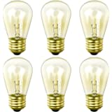 Newhouse Lighting Outdoor Weatherproof S14 Incandescent Replacement String Light Bulbs | Standard Base | 6-Pack