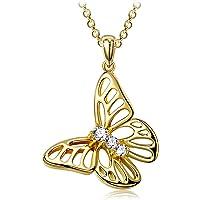 Sellot Collares Mujer Plata Pendientes, Serie Sueño de Mariposa, Regalos Originales para Mujer Niña, Cúbica 5A/Cristales…