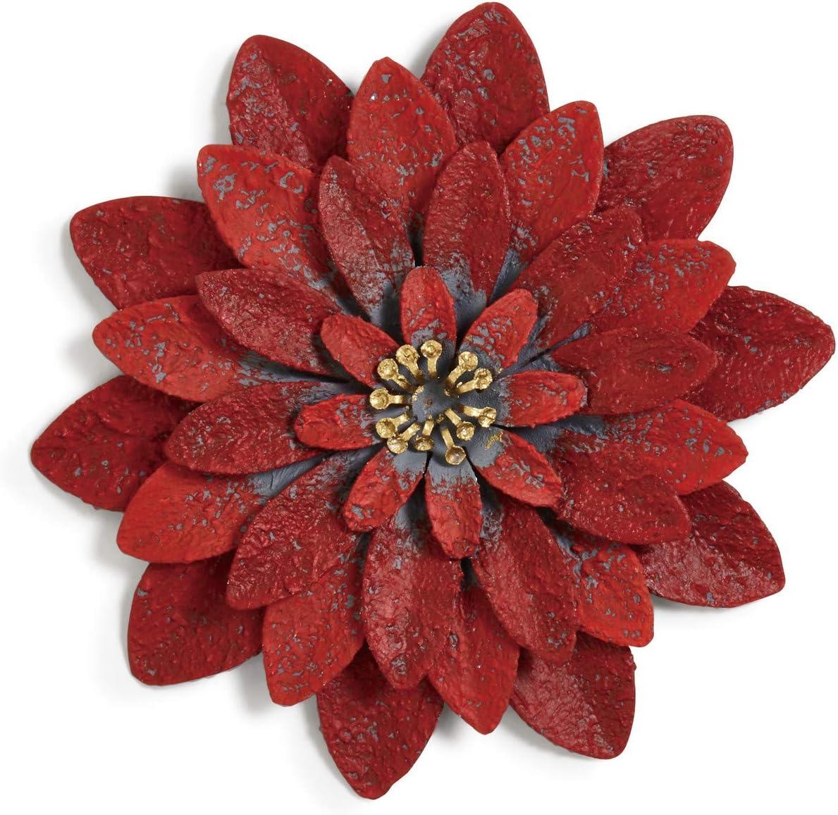 DEMDACO Poinsettia Floral Red 4 x 4 Metal Refrigerator Magnet Token