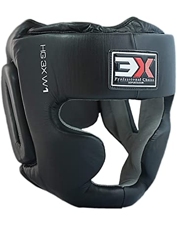 RDX Boxeo Cuero Cascos MMA Sparring Kickboxing Casco Protector Entrenamiento Lucha