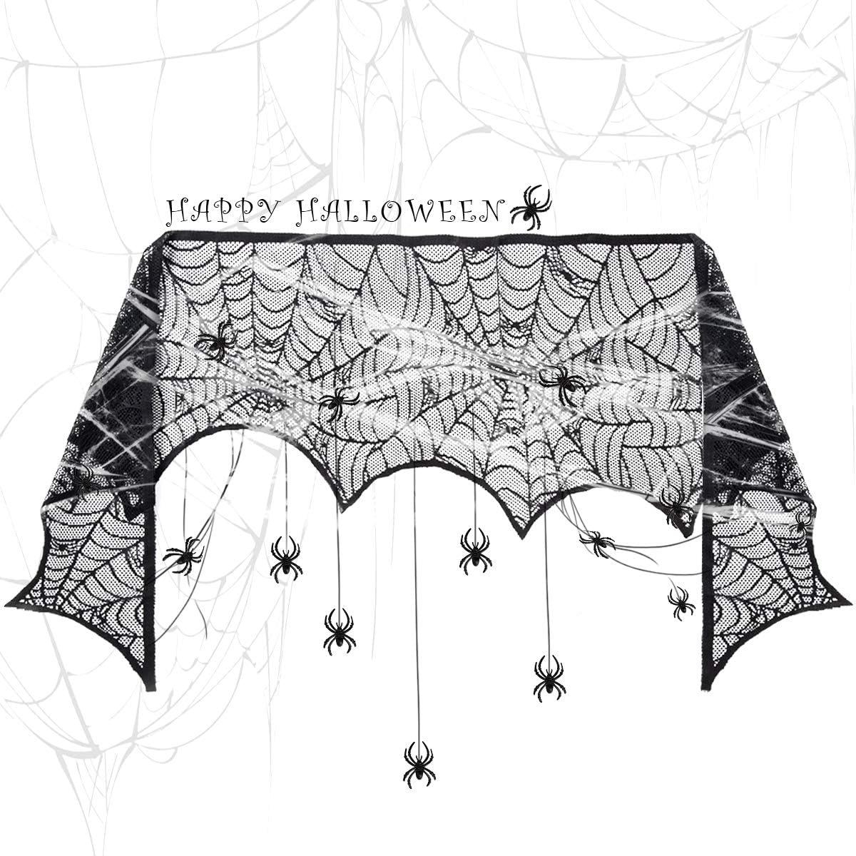 GIGALUMI tela de encaje de tela de ara/ña de Halloween 60 g telara/ñas 30 ara/ñas de terror Halloween ara/ña telara/ña decoraci/ón conjunto para Halloween decoraci/ón fiesta carnaval