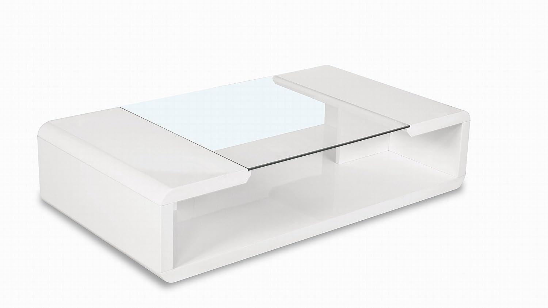 UK Leisure World Glass Coffee high gloss white table black Stylish Modern Contemporary Room
