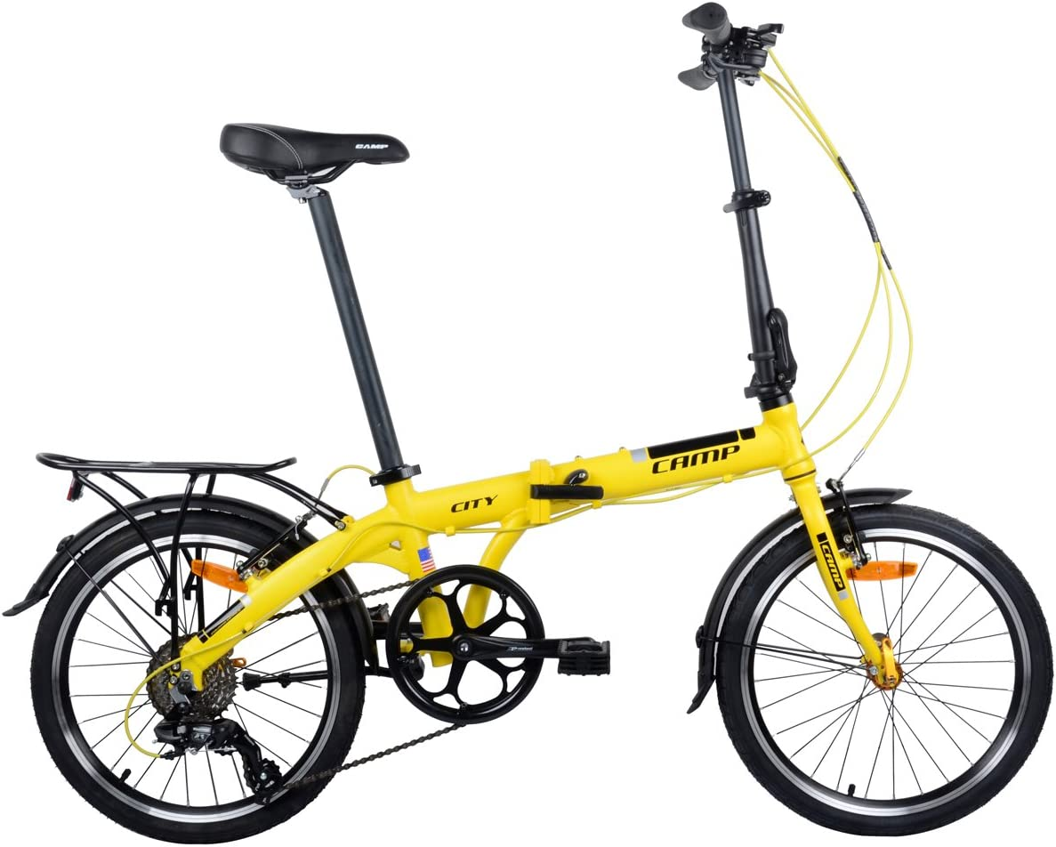 Camp Folding Bike Aluminum 20 8 Speed
