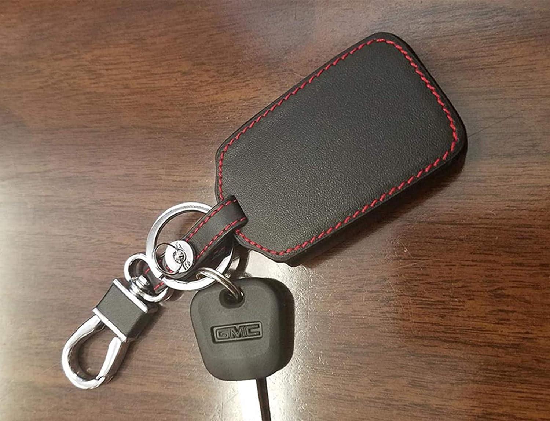 KAWIHEN Leather Smart Remote Key Fob Case Holder Cover For Chevrolet Silverado 1500 Colorado Tahoe Suburban Gmc Yukon Sierra 1500 Canyon M3N-32337100 13577771