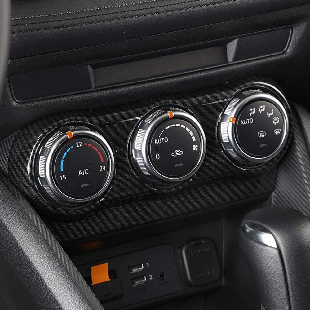 LUVCARPB Garniture de Couvercle de d/écoration de commutateur de r/églage de climatisation de Voiture adapt/ée pour Mazda CX3 CX-3 2015-2018