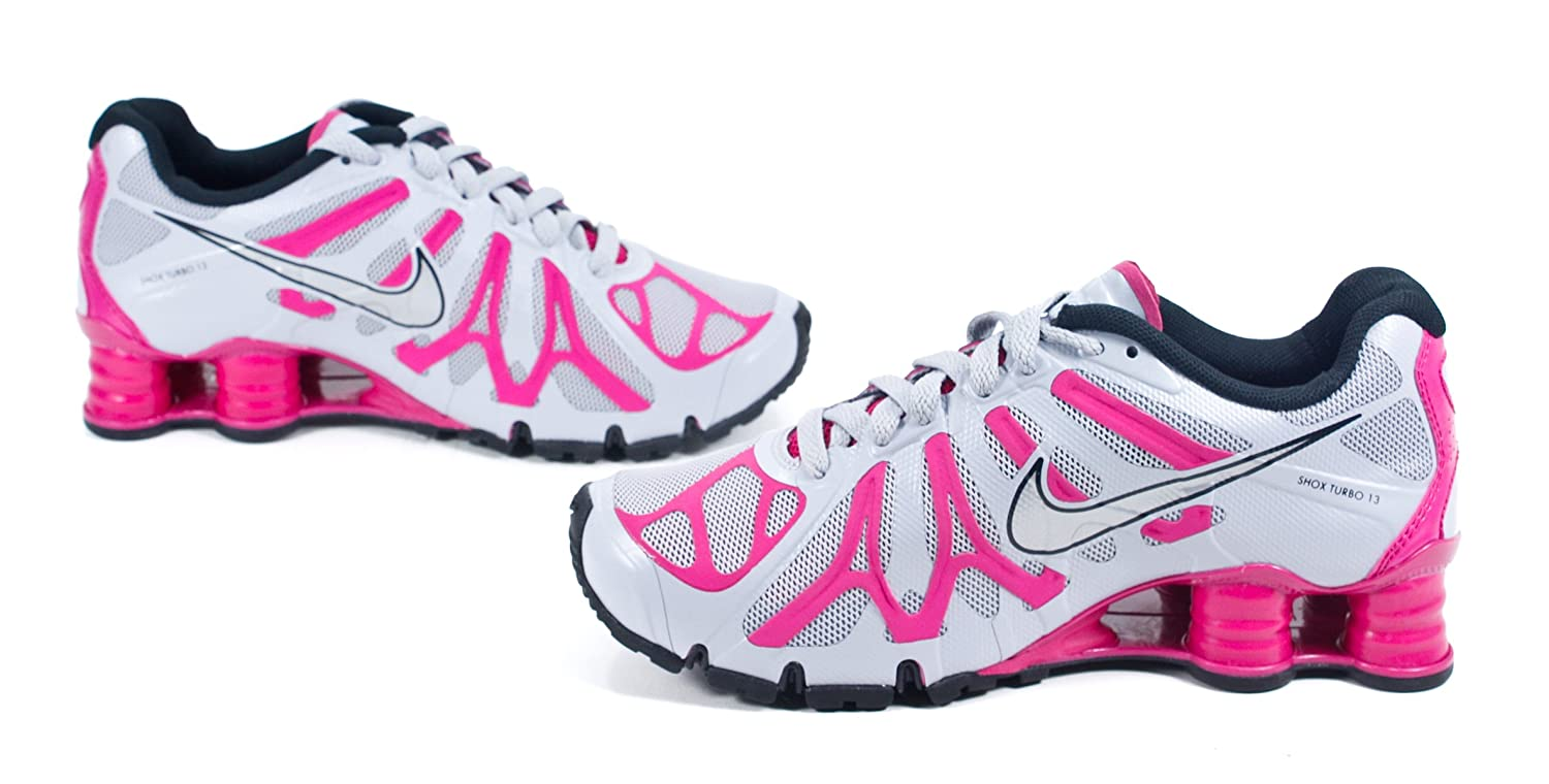 Amazon.com | Women\u0027s Nike Shox Turbo+ 13 Running Shoe WOLF GREY/