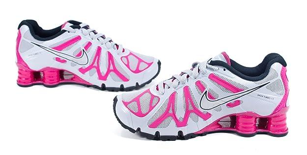 bc528c37bbd025 ... Amazon.com NIKE Womens Shox Turbo+ 13 Running Shoe WOLF  GREYFIREBERRYBLACKMETALLIC 23a3e5f SILVER Size 10 ...