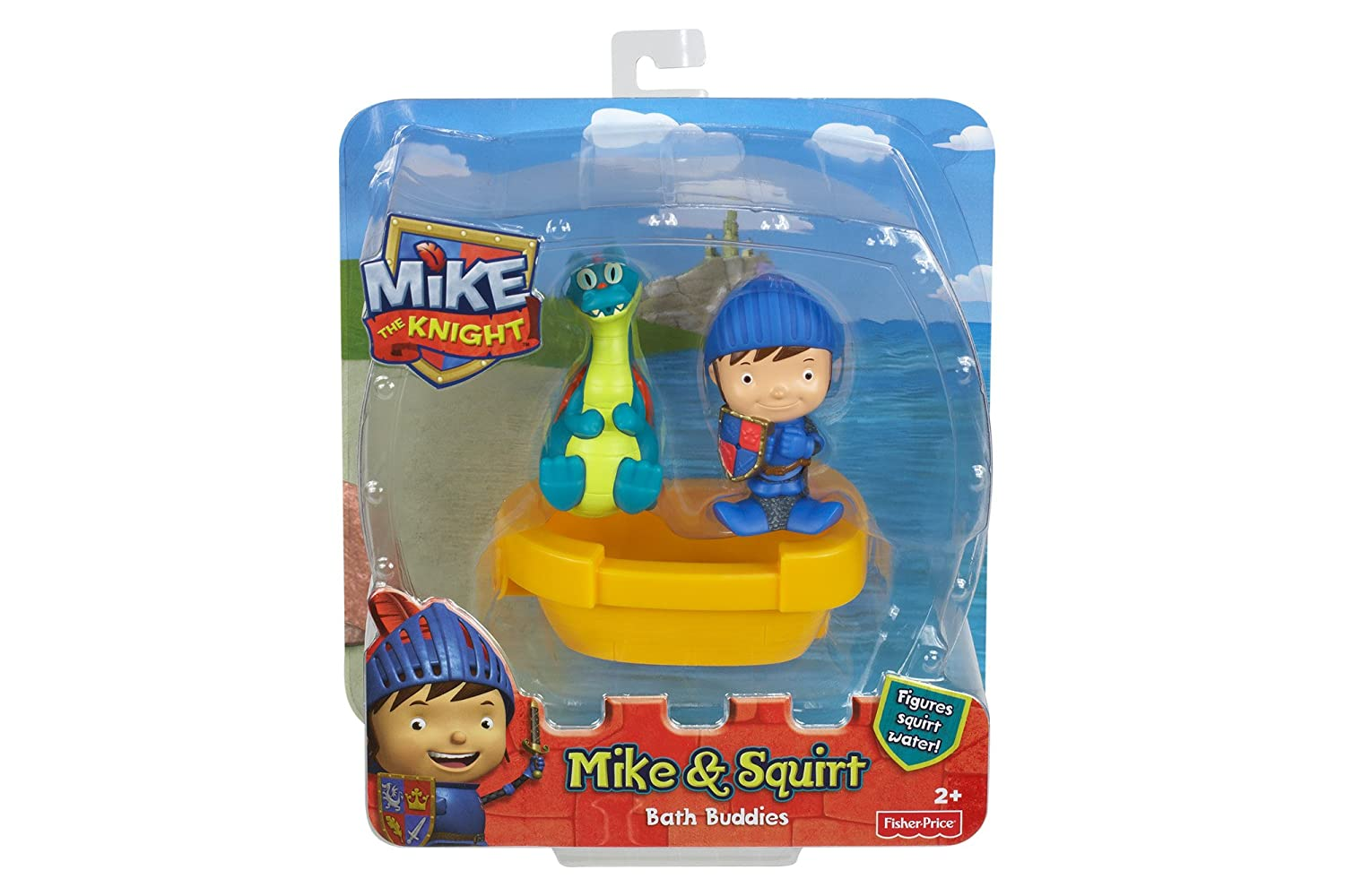 Fisher-Price Mike the Knight Mike /& Squirt Bath Buddies Fisher Price Y8131