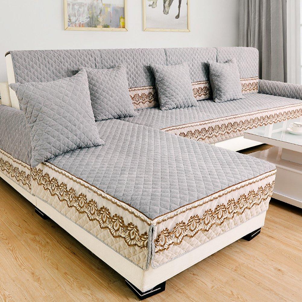 KLWJ Sofa cushioning,Universal simple modern fabric backrest towel cover,Sofa cover,All inclusive full cover european sofa towel-D 28x83inch(70x210cm)