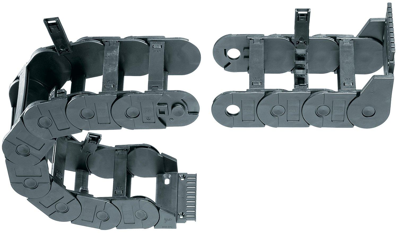 Polymer 4.92 Inner Width 1.77 Inner Height Hinge-Open Crossbar 1.65 Max Cable Diameter Igus 350-125-075-0 Energy Chain Cable Carrier 1ft Chain Length 1.77 Inner Height 4.92 Inner Width 1ft Chain Length
