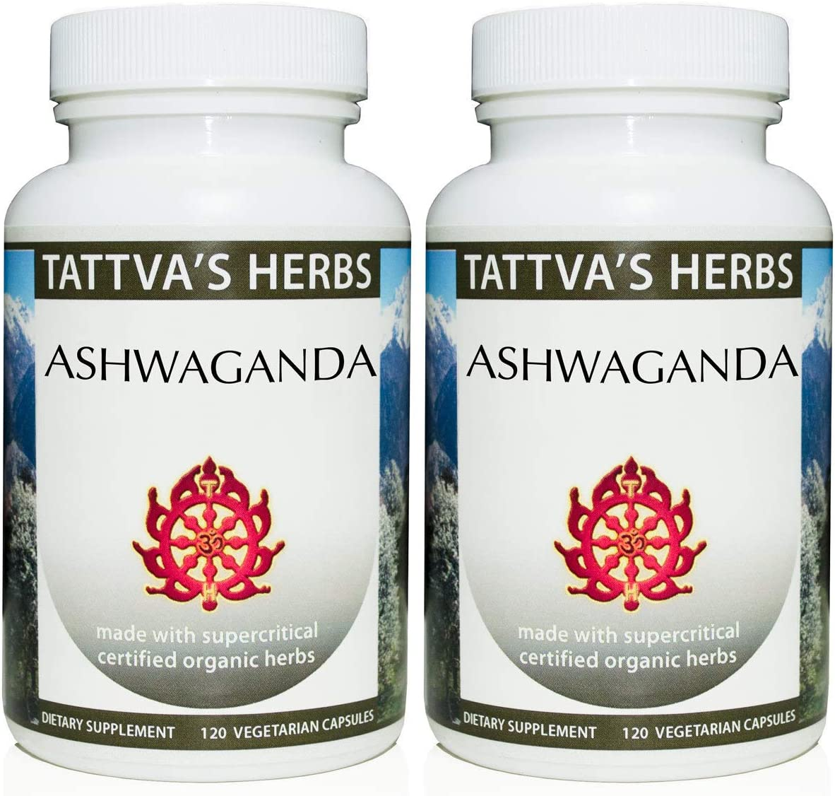 Raw Ashwagandha Organic - Provides Stress Relief, Supports Adrenal And Thyroid Function Rebuilds Core Strength - 500 mg. 240 Vcaps Two Month Supply From Tattva's Herbs: Health & Personal Care