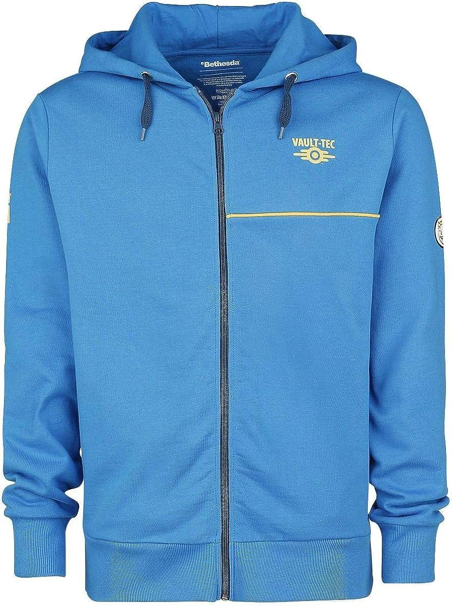 TALLA XXL. Fallout Boy chaqueta con capucha Bóveda Tec 111 de algodón azul juego