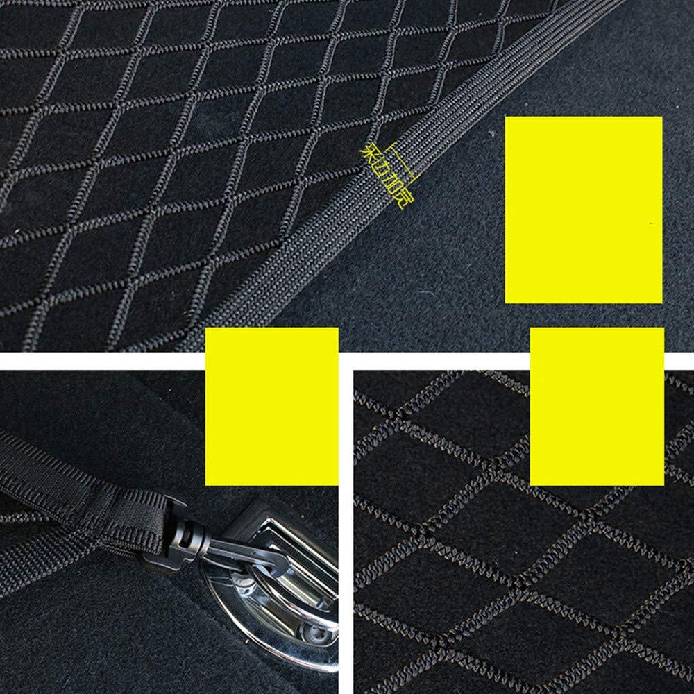 JMAHM Filet de Rangement pour Coffre de Voiture Filet de Rangement de Poche Filet de Rangement Filet de Voiture Filet de Rangement Filet de Voiture Filet de Nylon /élastique r/églable 4 Crochets