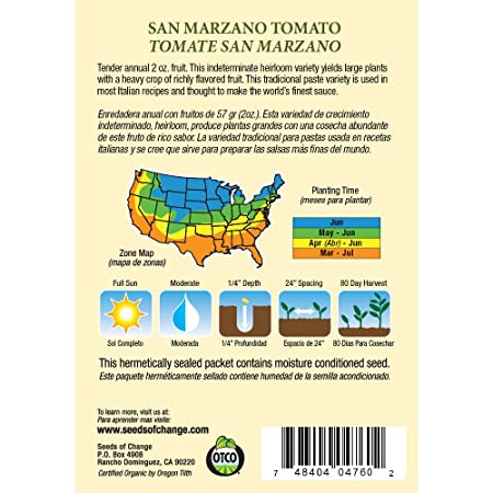 Amazoncom Seeds Of Change Certified Organic Tomato San Marzano - Map of tomato purchases in us