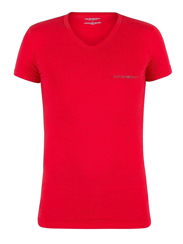 Emporio Armani Herren 2er-Pack Kasten-Logo mit V-Ausschnitt T-Shirts,  Mehrfarbig: Amazon.de: Bekleidung