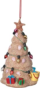 Midwest Sand Beach Christmas Tree Hanging Resin Christmas Ornament (2 inch)