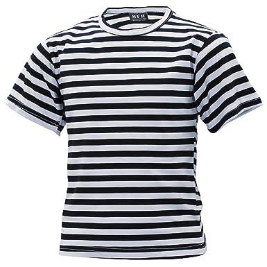 4c213ac66cba0a MFH Kinder Russisches Marine Shirt Blau Weiß Kids Matrosen Shirt Gestreift  Sommershirt S-XXL  Amazon.de  Bekleidung