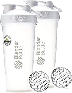BlenderBottle BlenderBottle Classic 28 Oz - White - Twin Pack