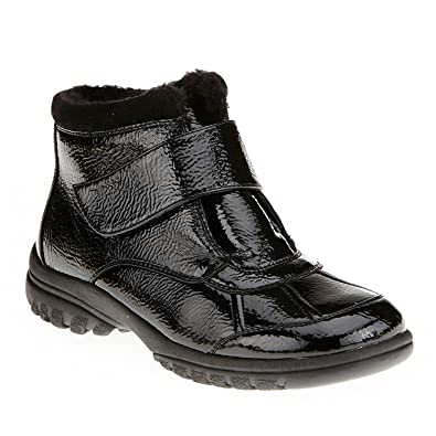 Women's Collette Black Warm Lined Water Resistant Ankle Boots
