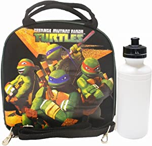 Nickelodeon 1 X Ninja Turtles Black Lunch Bag with Water Bottle