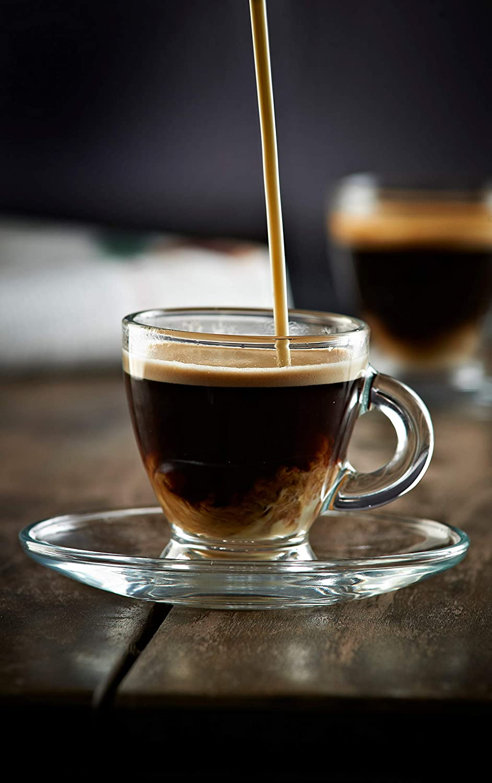 High Quality Ravenhead Entertain Glass Espresso Coffee Cup Shot /& Saucer Set