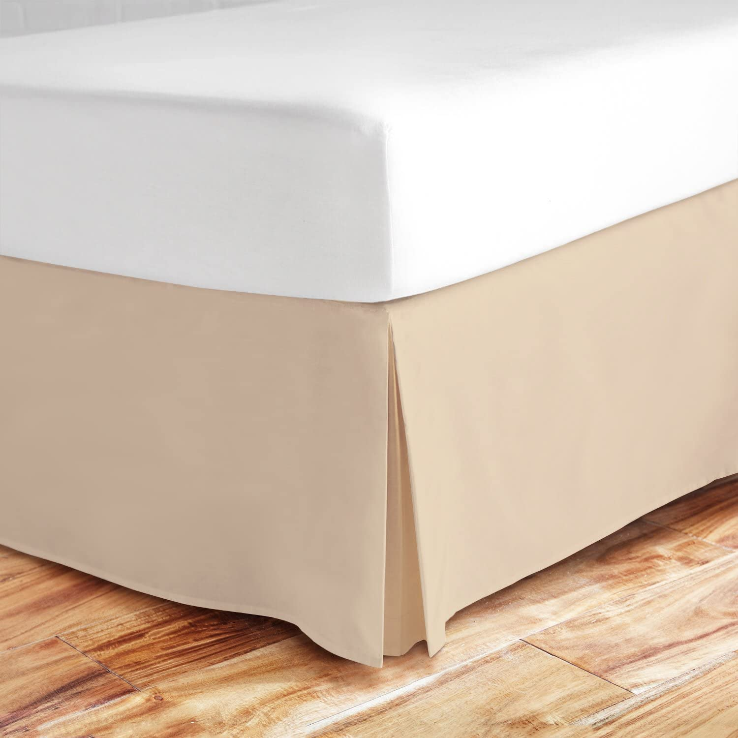 Zen Bamboo Ultra Soft Bed Skirt - Premium, Eco-friendly, Hypoallergenic, and Wrinkle Resistant Rayon Derived From Bamboo Dust Ruffle with 15-inch Drop - King - Cream