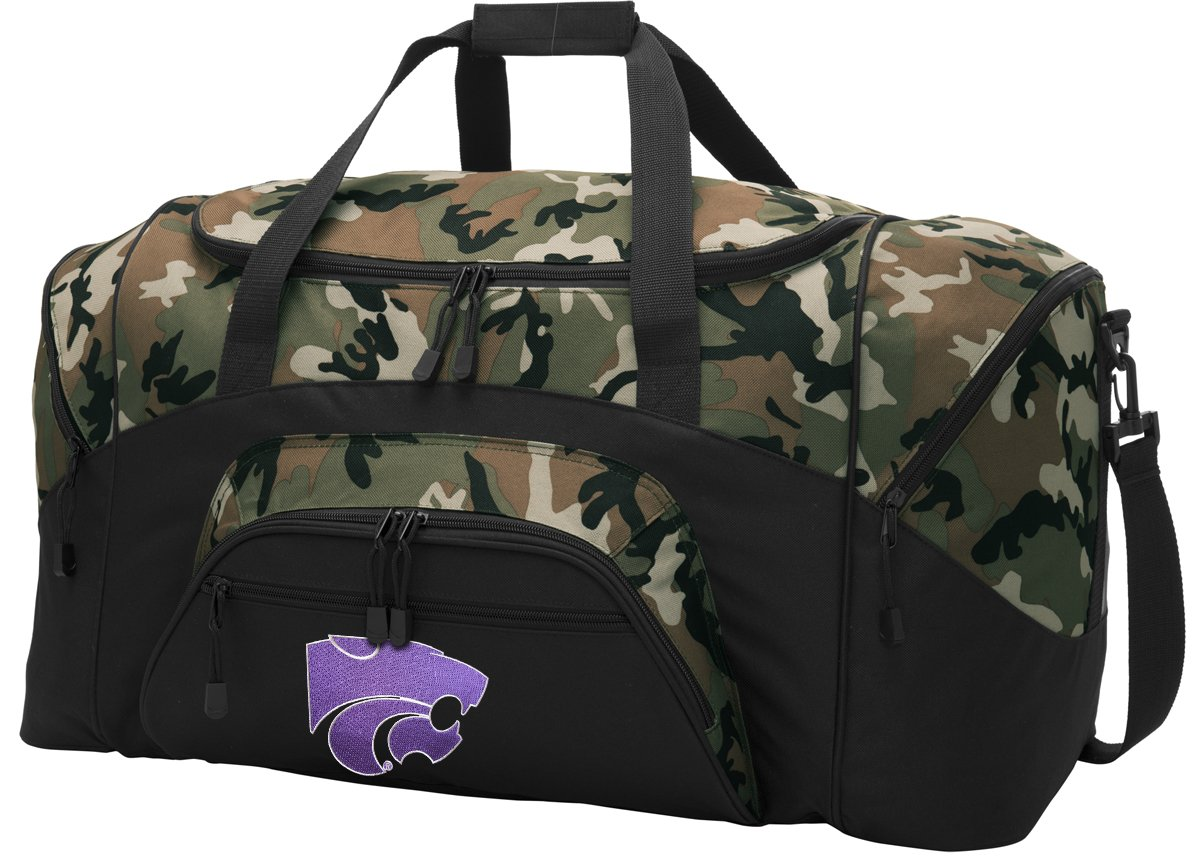 113af9b7bf4 Amazon.com   Broad Bay Large K-State Duffel Bag CAMO Kansas State Suitcase  Duffle Luggage Gift Idea for Men Man Him!   Sports   Outdoors