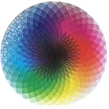 LRRH 1000 Pcs Round Jigsaw Puzzles Rainbow Palette Intellectual Game for Adults and Kids