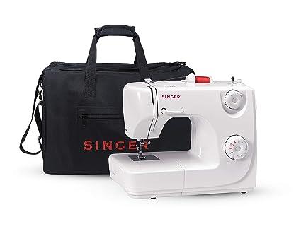 Singer 8280 - Máquina de coser automática, 8 puntadas, color blanco + Funda Singer