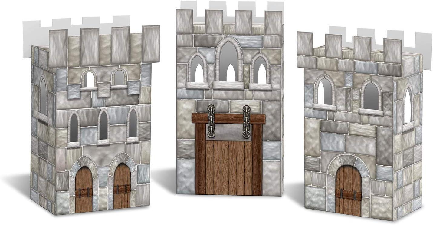 """Beistle Castle Favor Boxes, 3¼"""" x 6"""", Multicolored"""