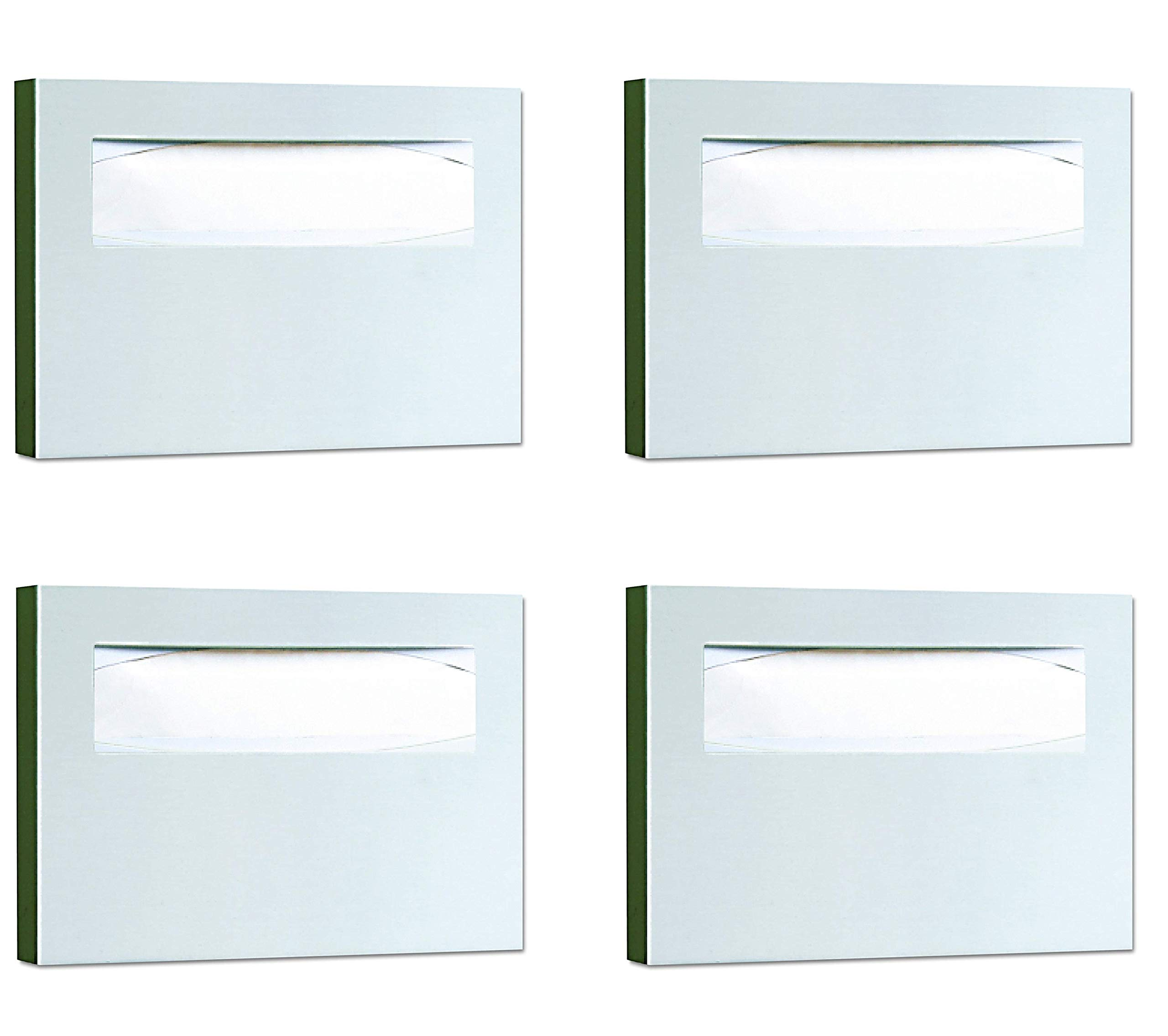 Bobrick 221 Stainless Steel Toilet Seat Cover Dispenser, 15 3/4 x 2 x 11, Satin Finish (Pack of 4) by Bobrick (Image #1)