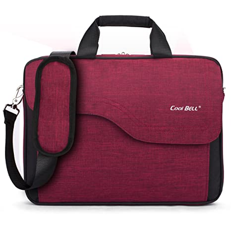12e425953835c CoolBELL 17.3 Inch Nylon Laptop Bag Shoulder Bag with Strap  Multicompartment Messenger Hand Bag Briefcase for
