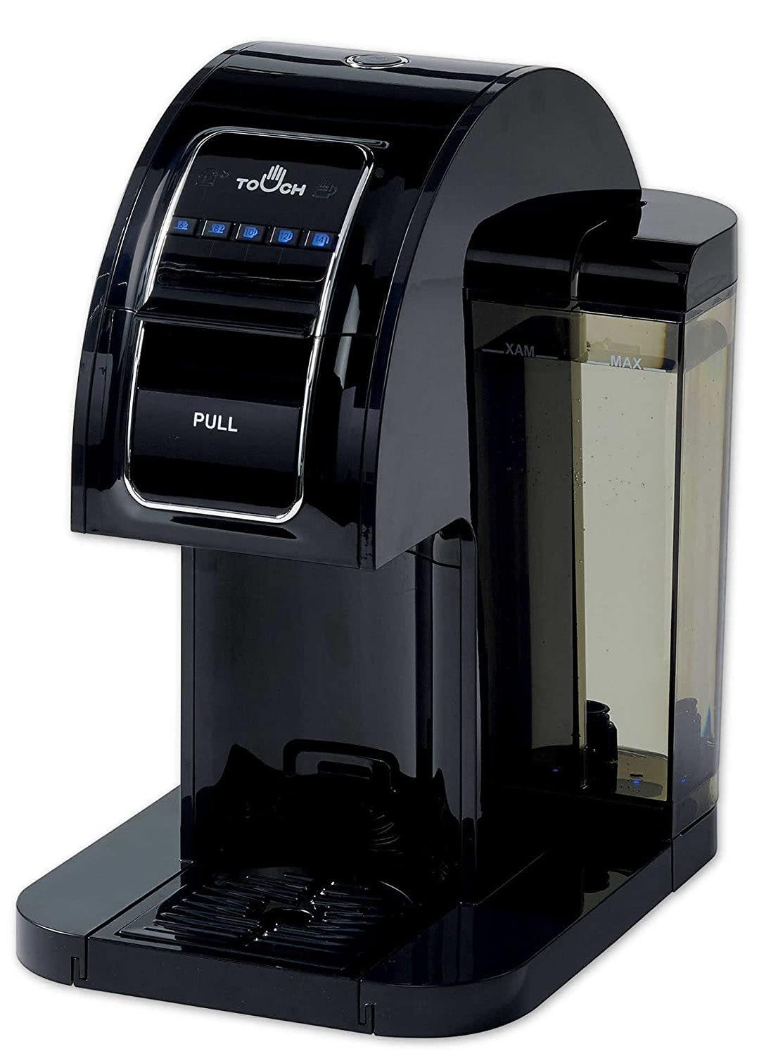 Touch Essential Single Serve Coffee Brewer - Black Coffee Maker with Full K-Cup Pod Compatibility & Rapid Brew Technology - T214B