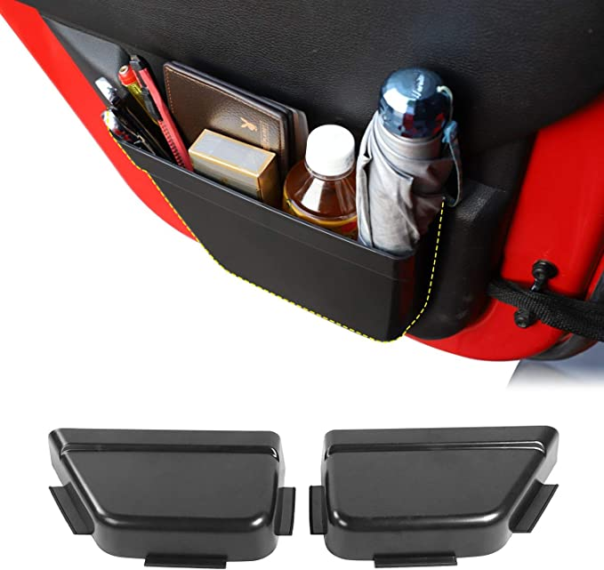 CALBEAU Front Door Side Insert Storage Pockets Box Black Unlimited Interior Accessories Tray Organizer Door Net Pocket Replacement for 2011-2018 Jeep Wrangler JK JKU 2//4-Door 2020 Upgraded Version