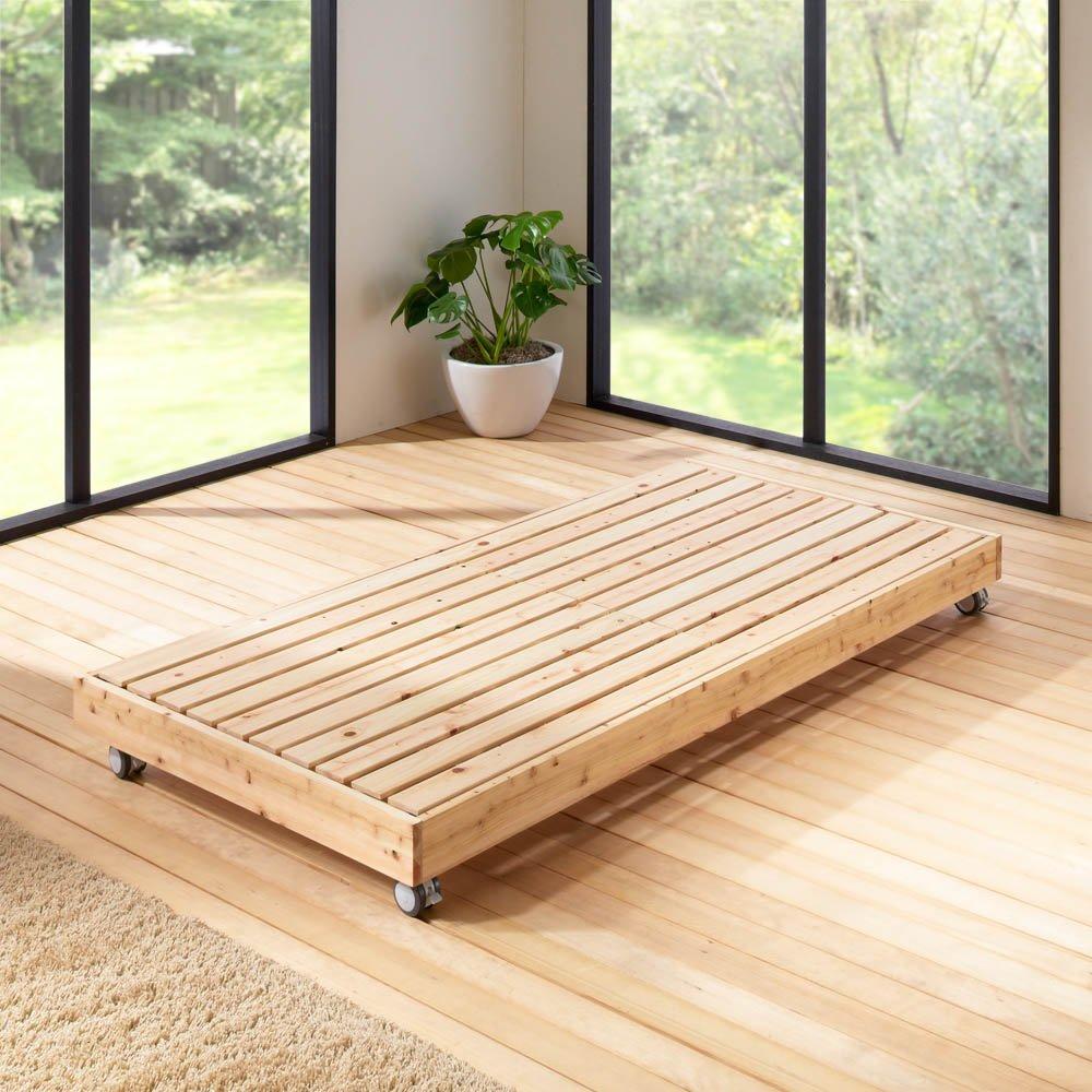 ひのきが香る天然木 親子すのこベッド 下段ベッド 665710 B07M9VJY6H