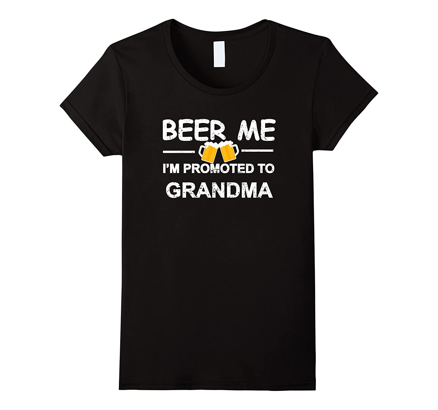 Womens Beer Me I'm Promoted To Grandma T-shirt Est 2017 Funny Gift-TH