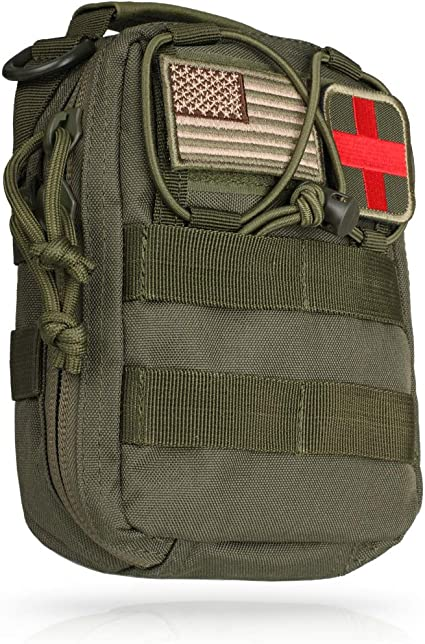 Tactical EMT First Aid Pouch IFAK Utility Belt MOLLE Medical Tool Bag Portable