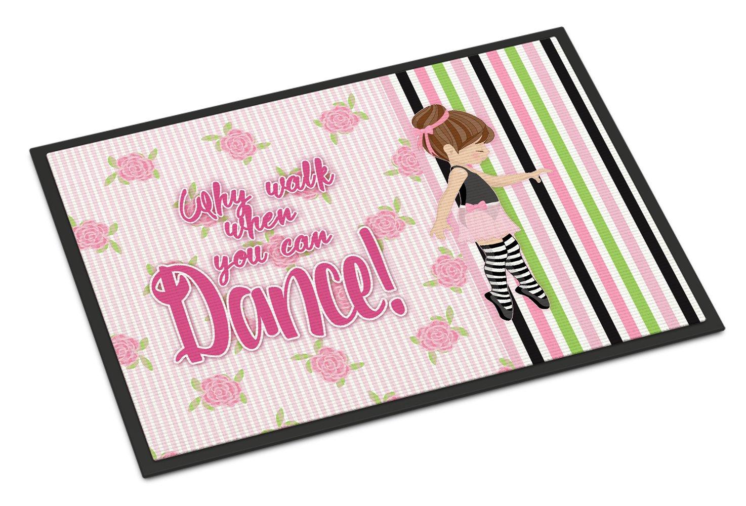 Caroline's Treasures Ballet Dance Stripes Brunette Doormat, 24 H x 36 W'', Multicolor