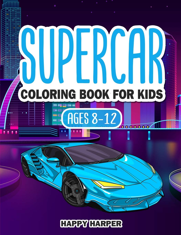 Supercar Coloring Book Hall Harper 9781989543672 Amazon Com Books
