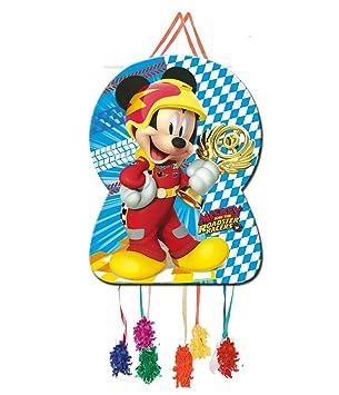 Verbetena, 014001350, piñata silueta disney mickey mouse y los super pilotos. dimensiones 46x65