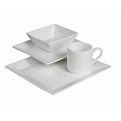Fortessa Fortaluxe SuperWhite Vitrified China Dinnerware Plaza 4-Piece Place Setting Service for  sc 1 st  Amazon.com & Amazon.com | Fortessa Fortaluxe SuperWhite Vitrified China ...