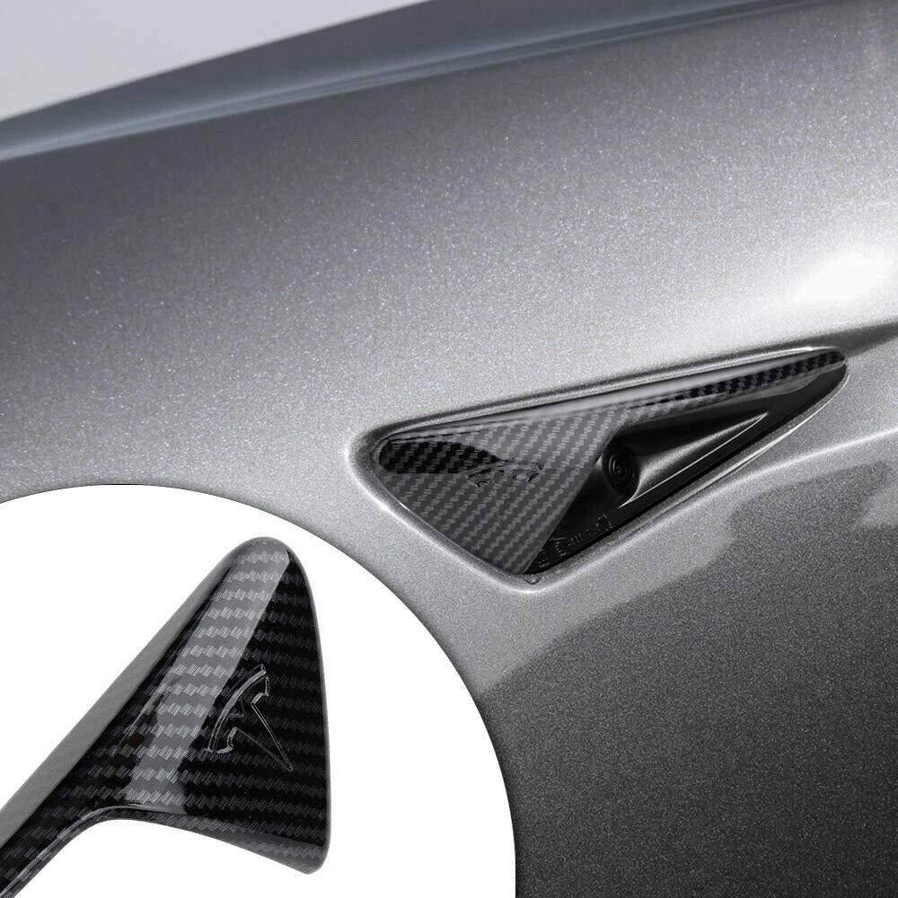 Alician Autozubeh/ör 2 St/ück Carbon Air Vent Hood Kotfl/ügelverkleidung f/ür Tesla Model 3 X S